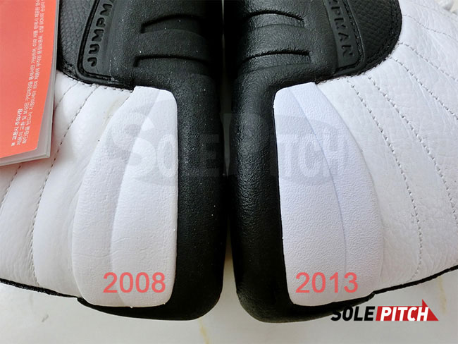 792a61cfbf3323 Air Jordan 12  Taxi  2008 vs. 2013 Comparison