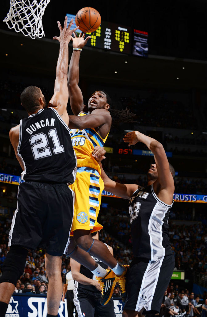 Kenneth Faried wearing adidas adizero Ghost 2 Black Yellow