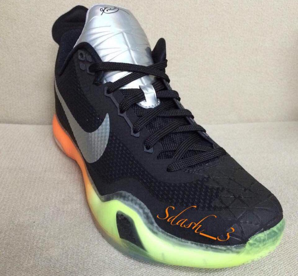 d730283e1b02 Nike Kobe X 10 All-Star Black Silver-Orange-Volt (4