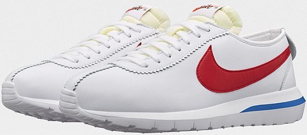 Nike Roshe One Cortez White/Game Royal-Varsity Red