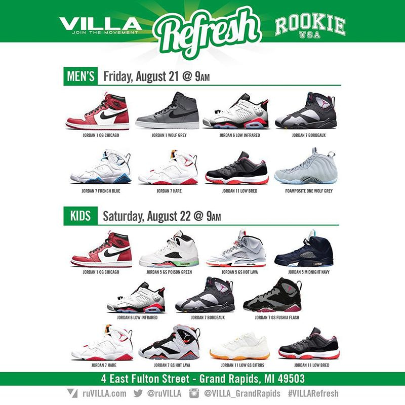 Air Jordan Restock Villa Michigan