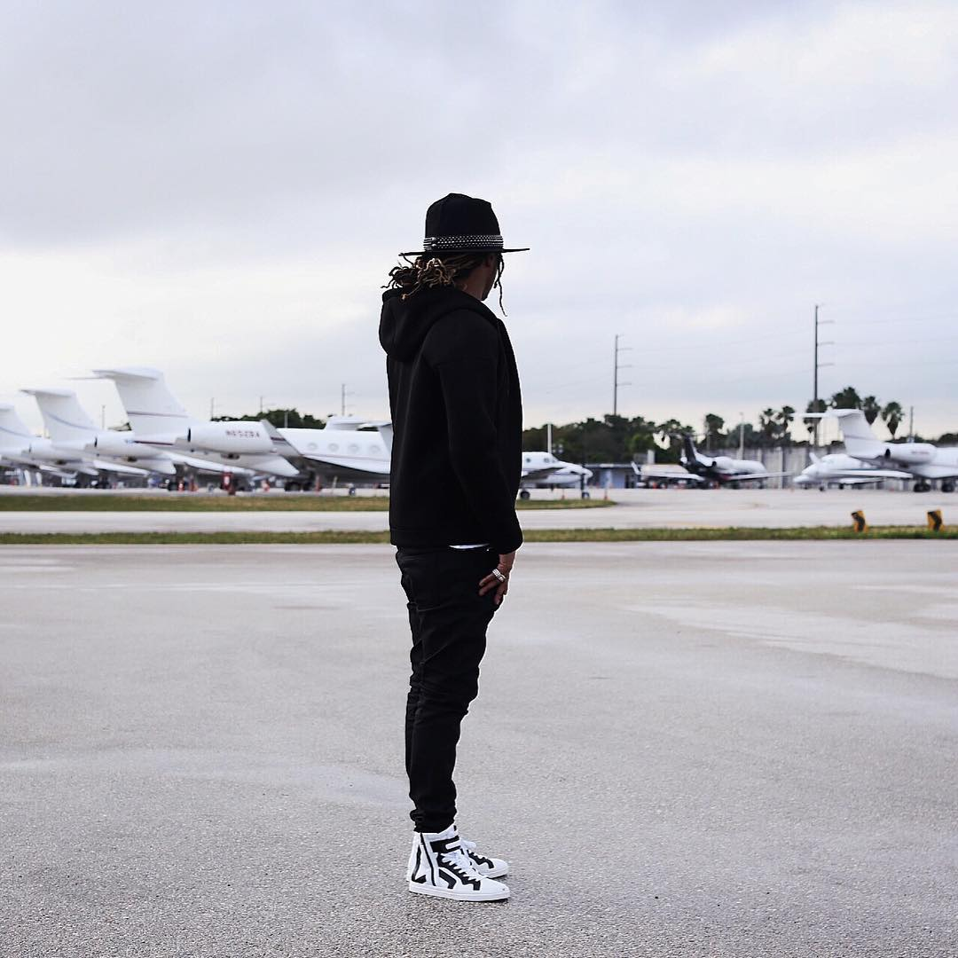Future Wearing Pierre Hardy High-Top Sneakers