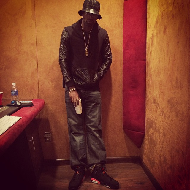 Stephen Jackson wearing Air Jordan VI 6 Infrared