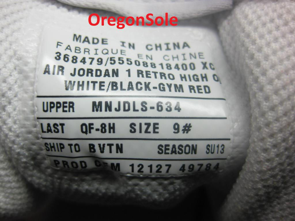 Air Jordan Retro I 1 High OG Black Toe 555088-184 (6)