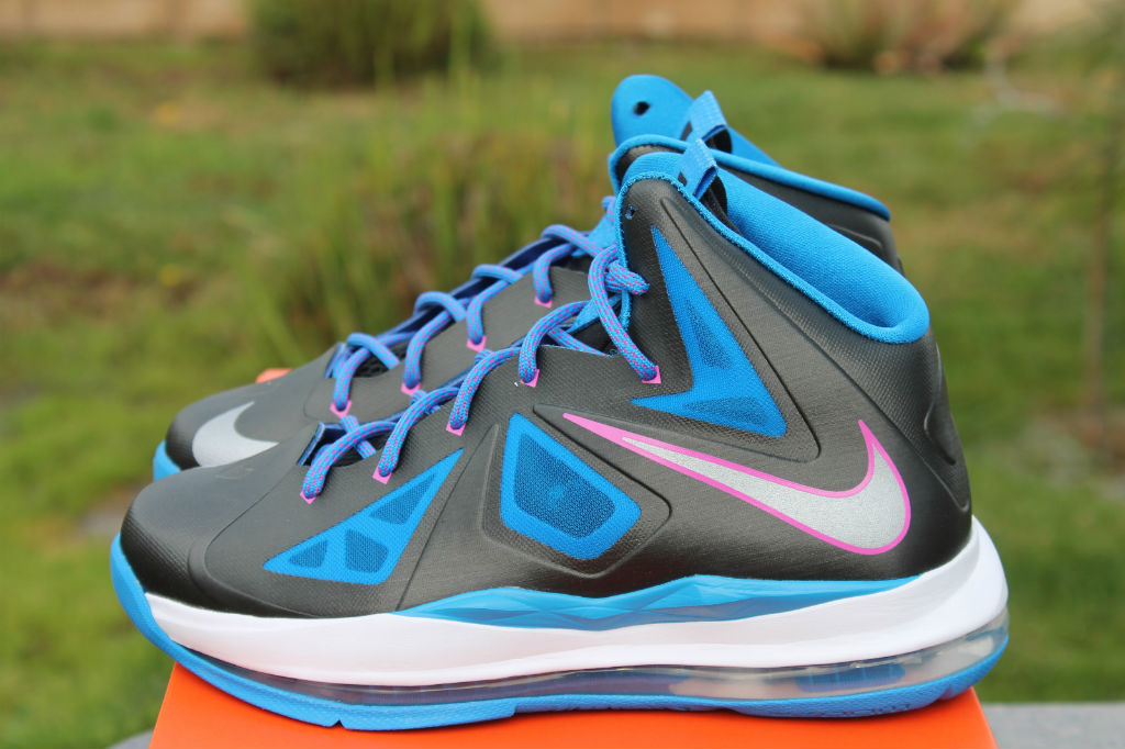 new product 327ec 9e278 Nike LeBron X 10 GS Black Metallic Silver Photo Blue White 543564-005 (9