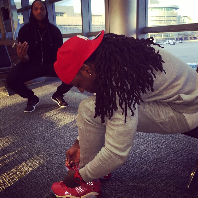 Ace Hood wearing Air Jordan VI 6 Slam Dunk
