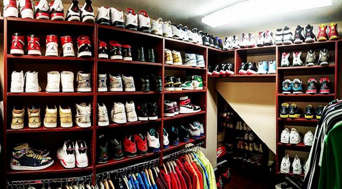 46a752de76c21a Nick Cannon Stunts on Chris Brown s Sneaker Closet