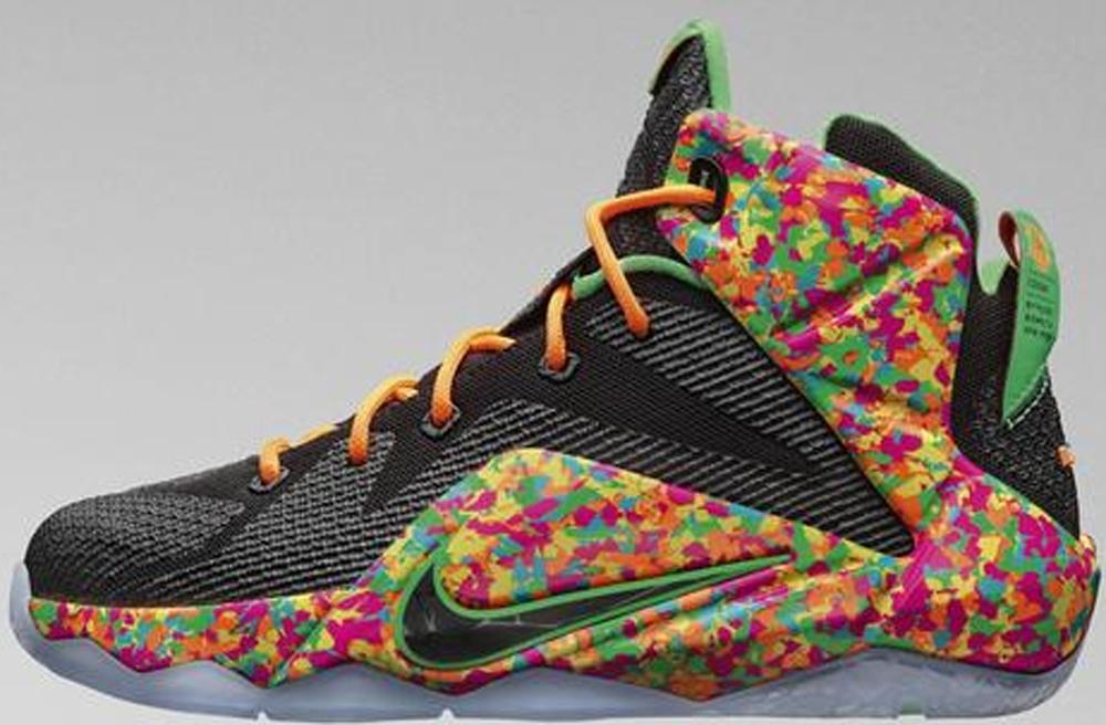 Nike LeBron 12 GS Black/Black-Multi-Color