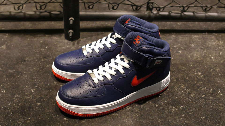 Collector Jewel Air 1 Mid Nyc Force NavyorangeSole Nike vn08wmN