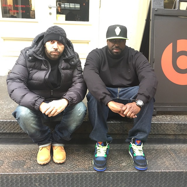 DJ Funk Flex wearing Air Jordan IV 4 Doernbecher
