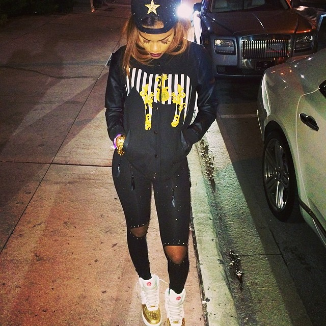 Teyana Taylor wearing Nike Air Force 1 Hi Year of the Horse