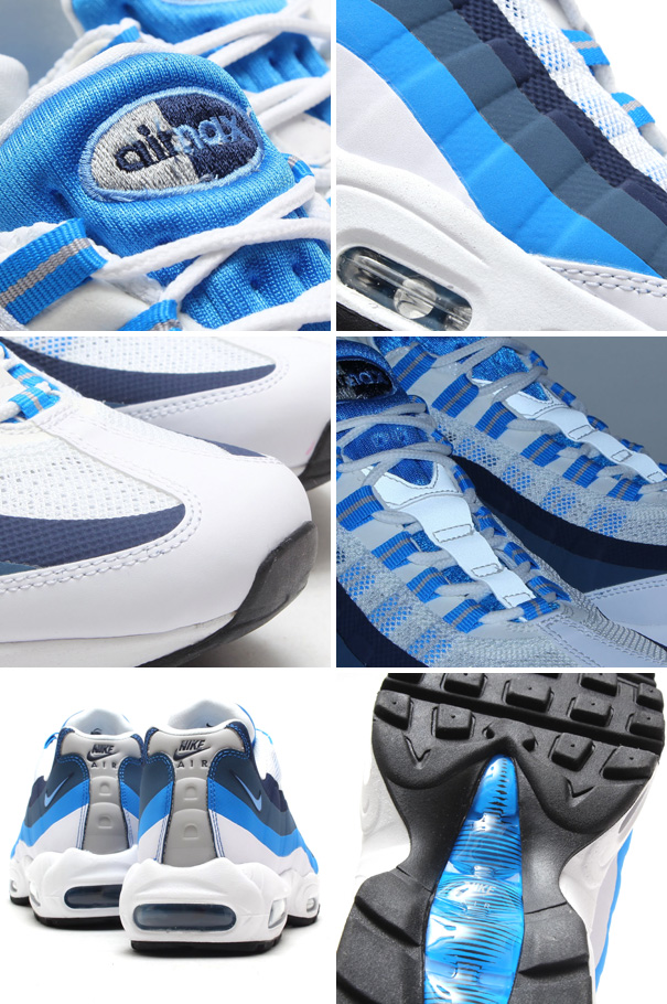 Nike Air Max 95 NS White / University Blue Details