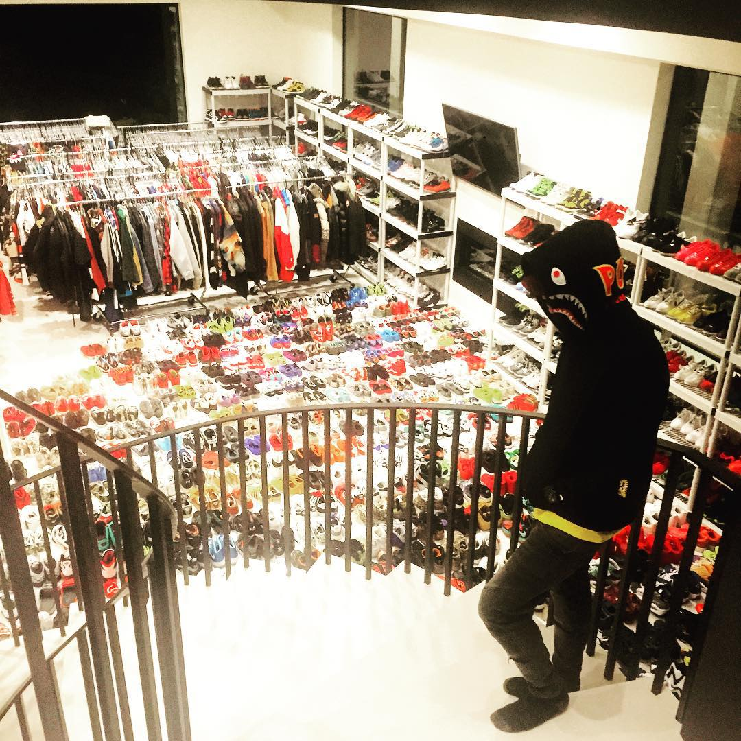Chris Browns Sneaker Closet 1