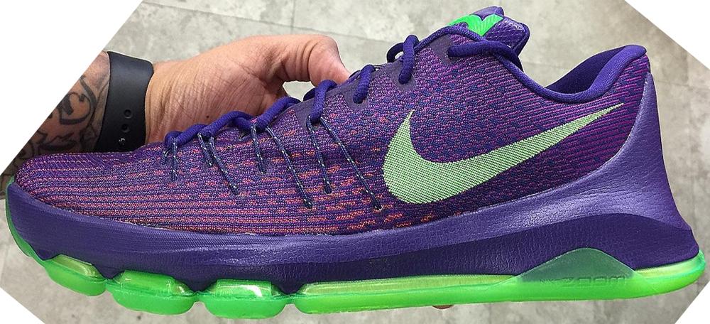 Nike KD 8 Court Purple/Green Strike-Vivid Purple-Bright Crimson