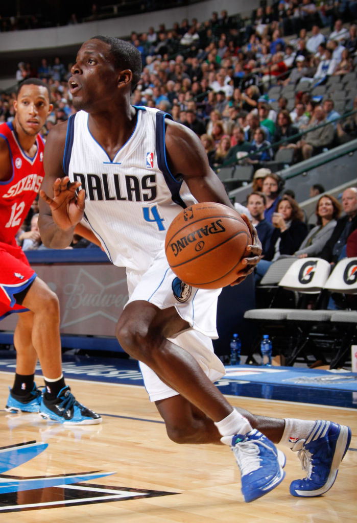 Darren Collison wearing adidas Crazy Shadow Blue White