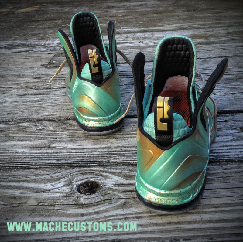 Nike LeBron 9 P.S. Elite Statue of Liberty by Mache Custom Kicks (3)