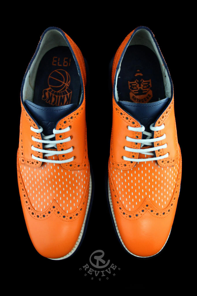 "Cole Haan LunarGrand Wingtip ""Knicks Orange"" for Spike Lee by Revive Customs (4)"
