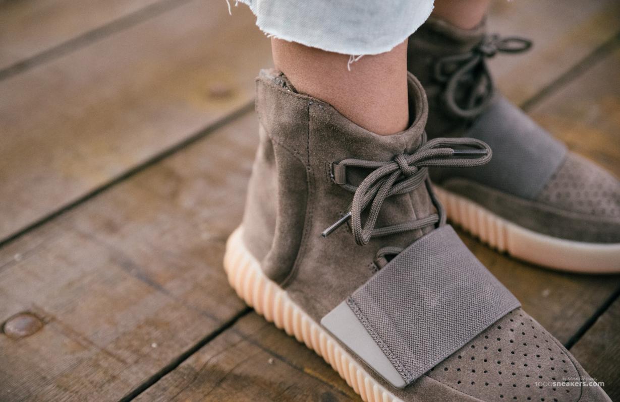 bd8cd25f Image via 1000 Sneakers · Chocolate Yeezy 750 Boosts On Feet 5