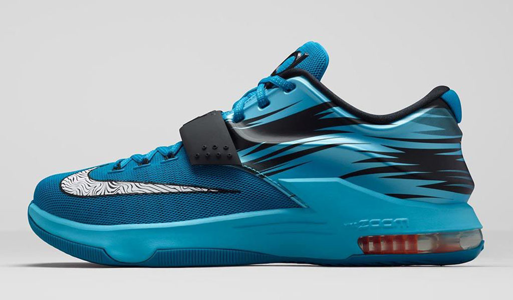 super popular 7f2a5 f50cc An Official Look at the 'Blue Lacquer' Nike KD 7 | Sole ...