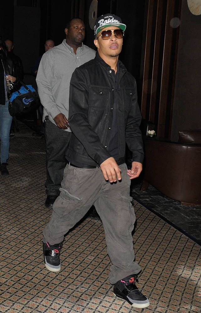 T.I. wearing Nike Air Yeezy