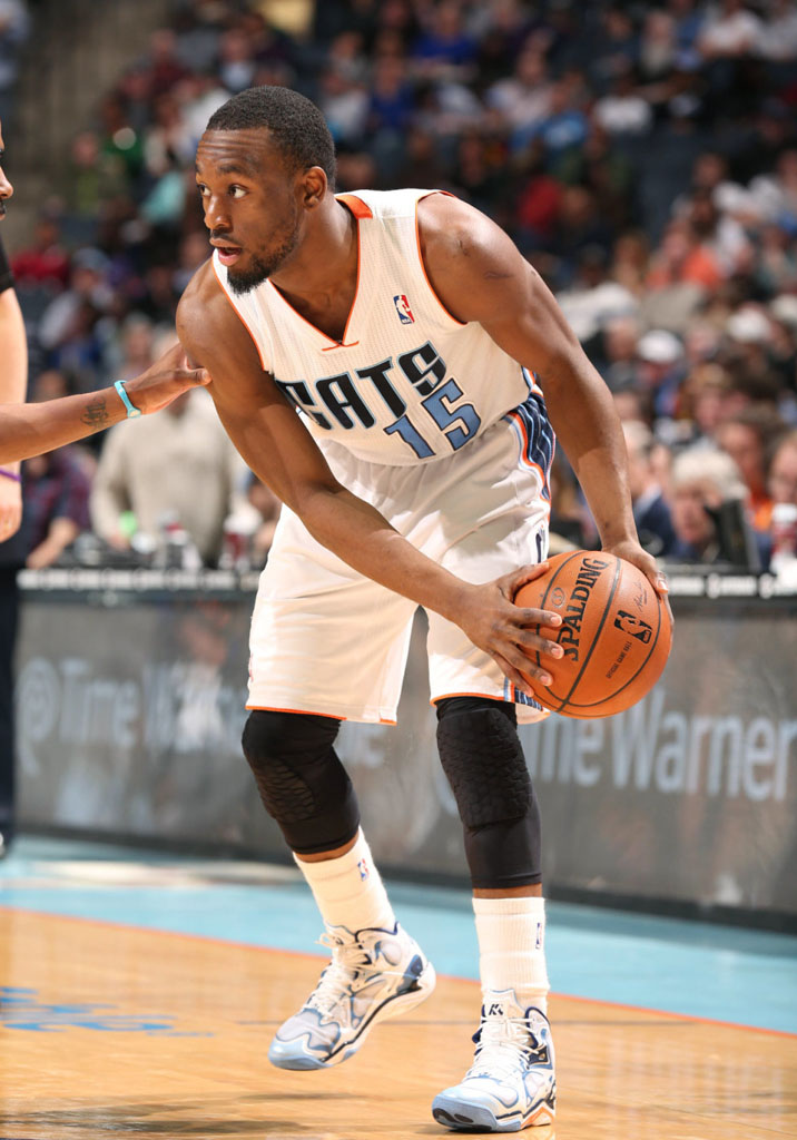 Kemba Walker wearing Under Armour Anatomix Spawn White PE