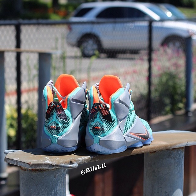 Nike LeBron XII 12 Release Date Turquoise/Grey-Crimson-Black 684593-301 (3)