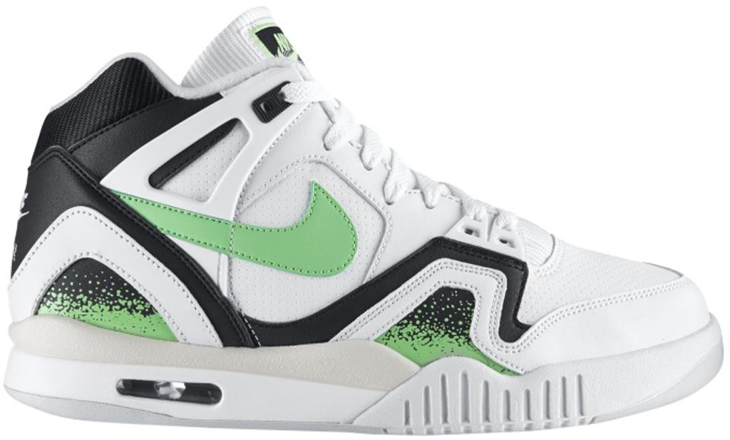 Nike Air Tech Challenge II 'Poison Green' 318408-100 White/Black-Light Ash  Grey-Poison Green