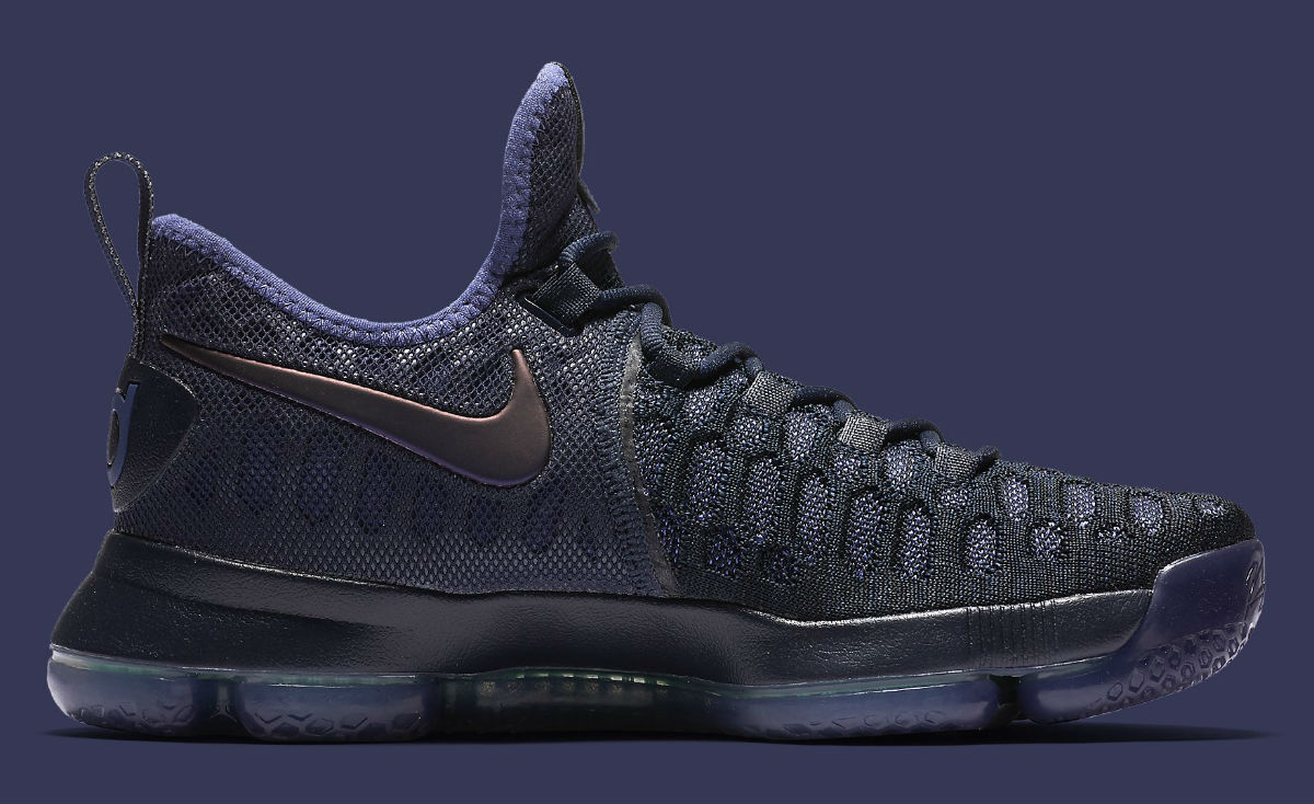 huge discount 89032 b2bdf Nike KD 9 Dark Purple Dust Release Date Medial 843392-450