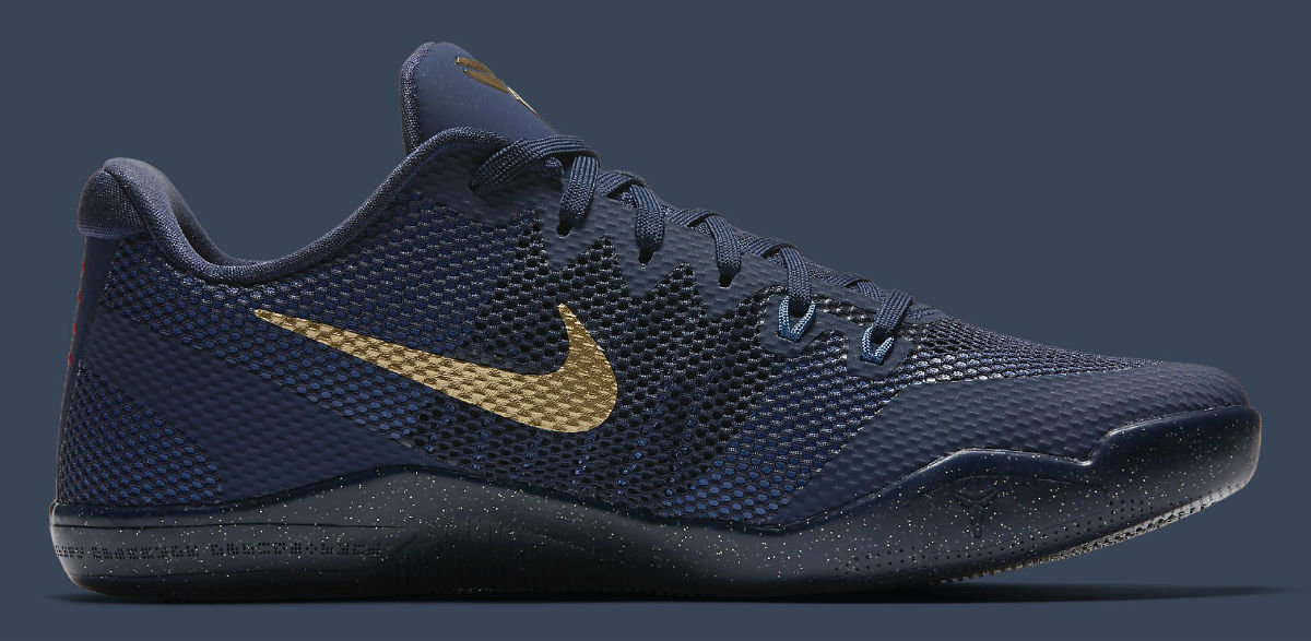 new concept 9c157 bd045 Nike Kobe 11 EM Philippines Deep Royal Fountain Blue-Metallic Gold Release  Date Medial