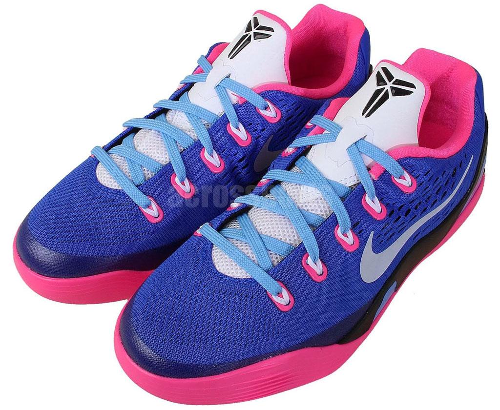 be0581d3f64b Nike Kobe IX 9 EM GS Hyper Pink White-Hyper Cobalt 653593-600
