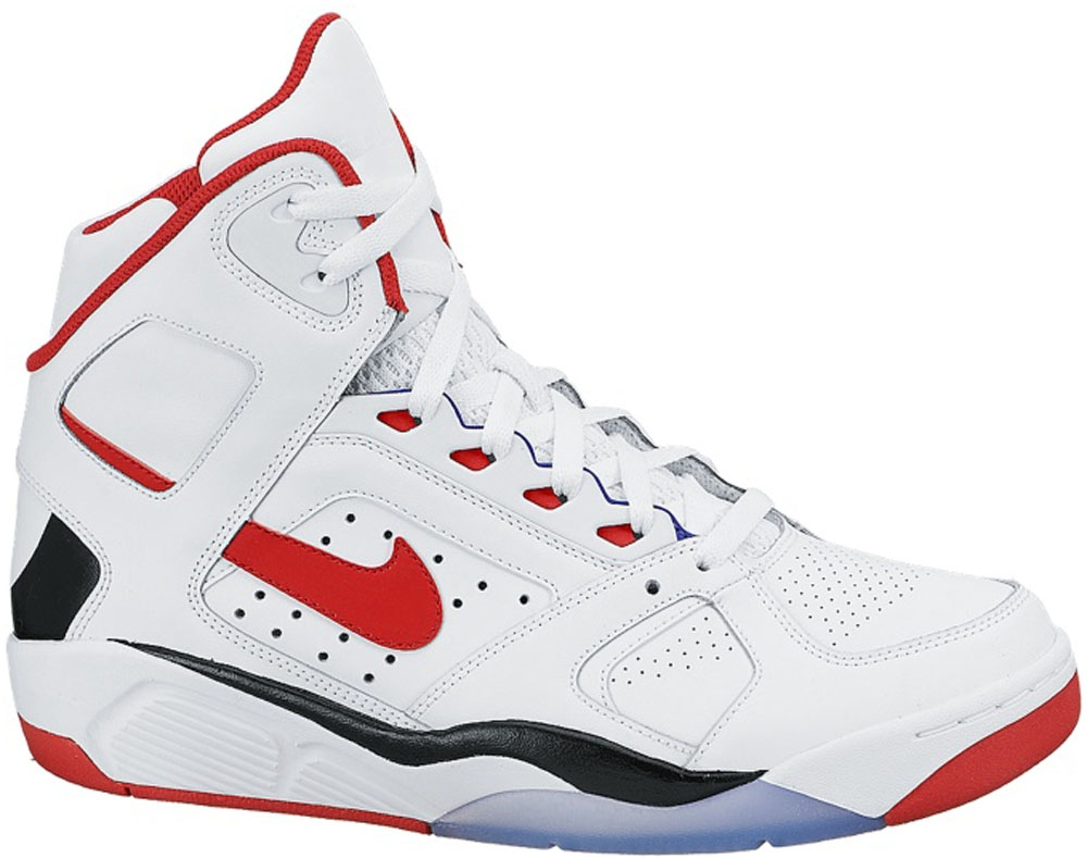 Nike Air Flight Lite High White/Black-University Red