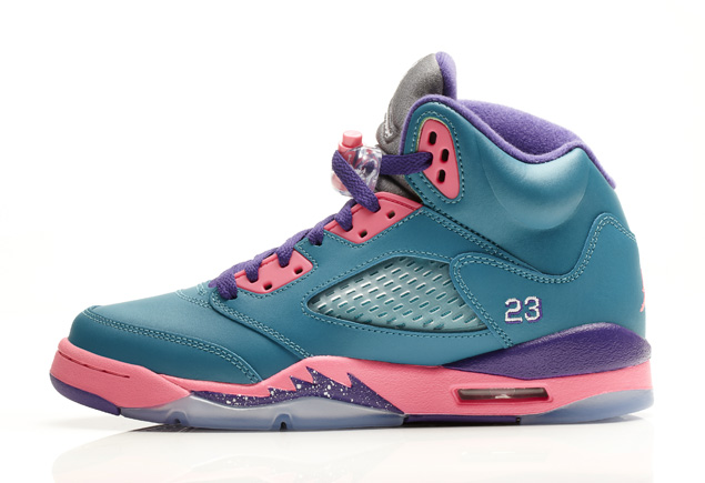 d76682aef6a28c Air Jordan 5 Retro GS in Tropical Teal Digital Pink and Court Purple profile