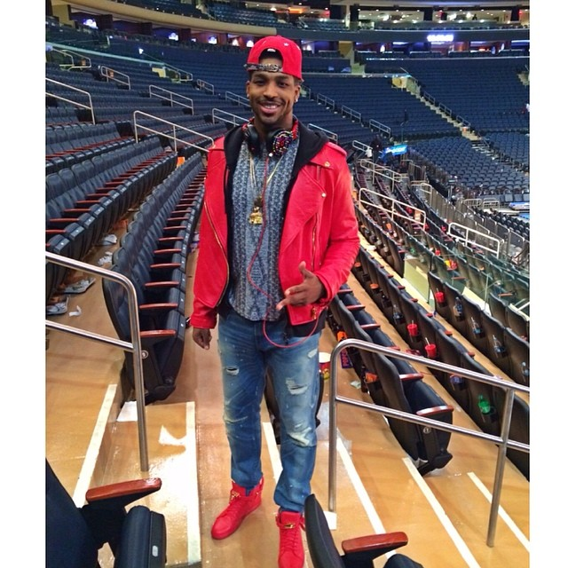 Tristan Thompson wearing Buscemi 100mm Red