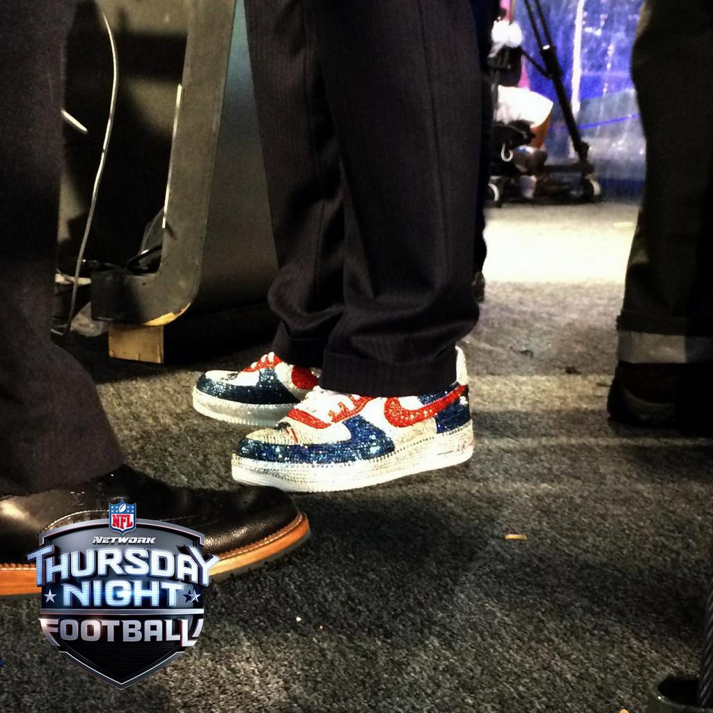 Robert Kraft wears Custom Nike Air Force 1