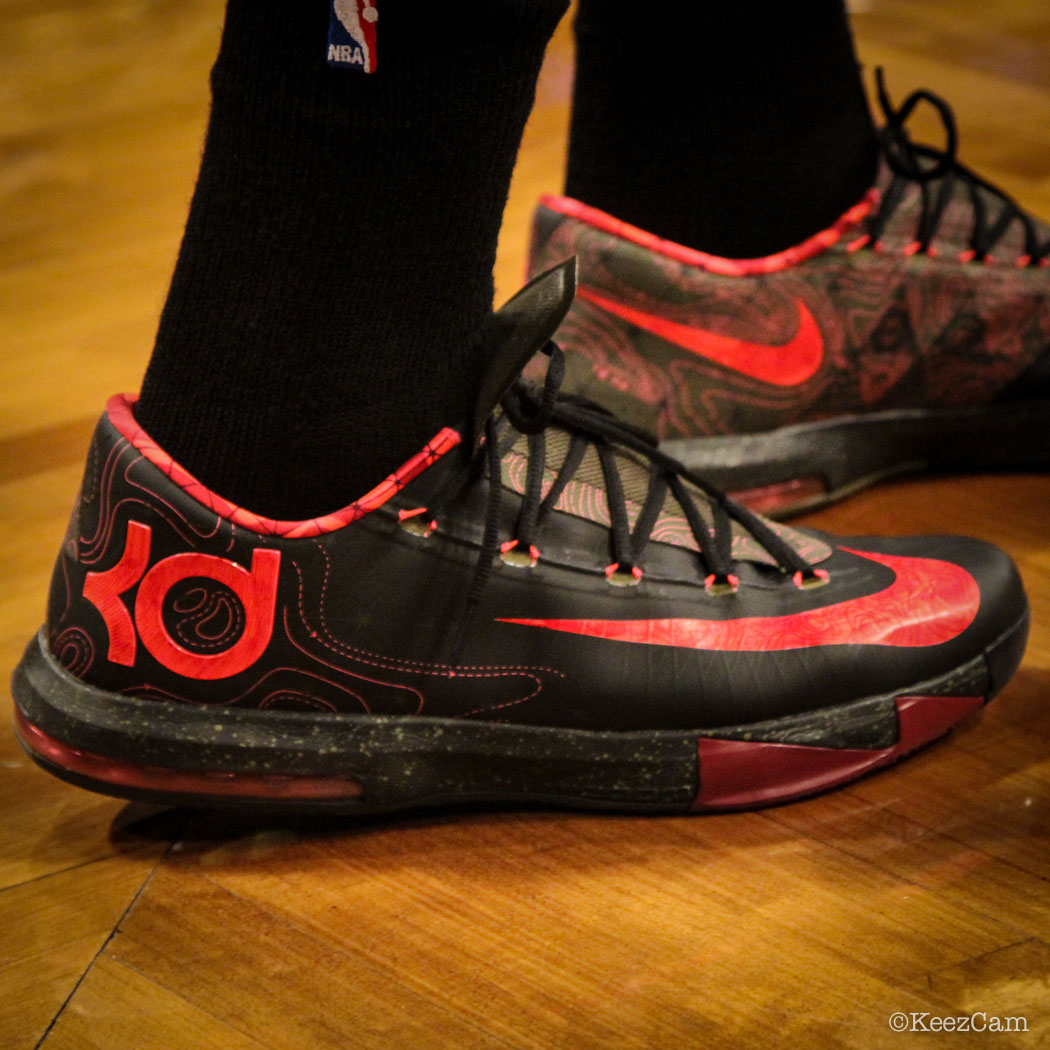 Sole Watch // Up Close At Barclays for Nets vs Bucks - Khris Middleton wearing Nike KD 6 Meteorology