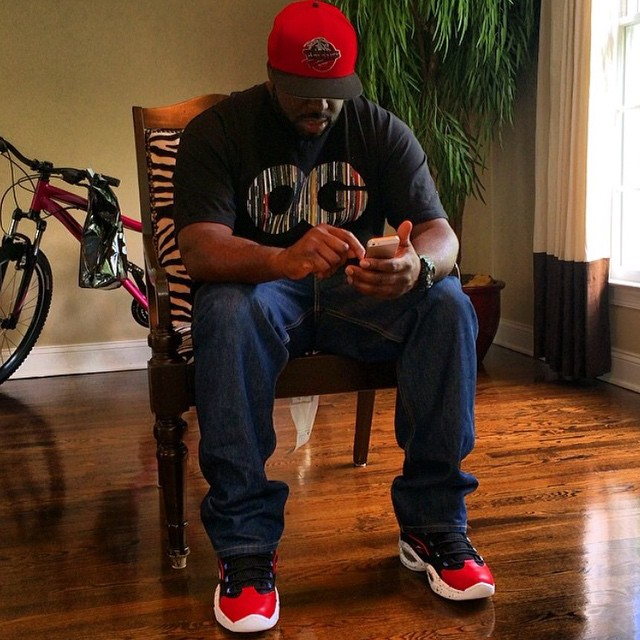 DJ Funk Flex wearing Reebok Question Banner