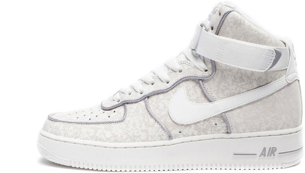 Nike Air Force 1 High Summit White/Summit White-Metallic Silver