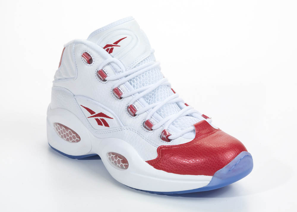 Reebok Question White Red 2012 Official Allen Iverson Shoes (2)