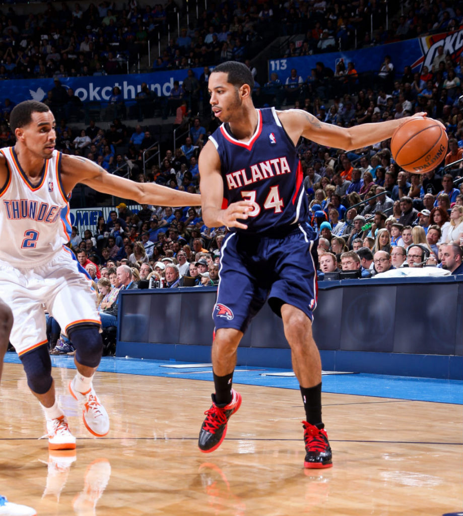 Devin Harris wearing adidas Crazy Shadow Black Red