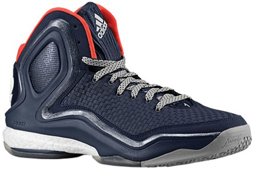 adidas D Rose 5 Boost Navy/White-Dark Orange