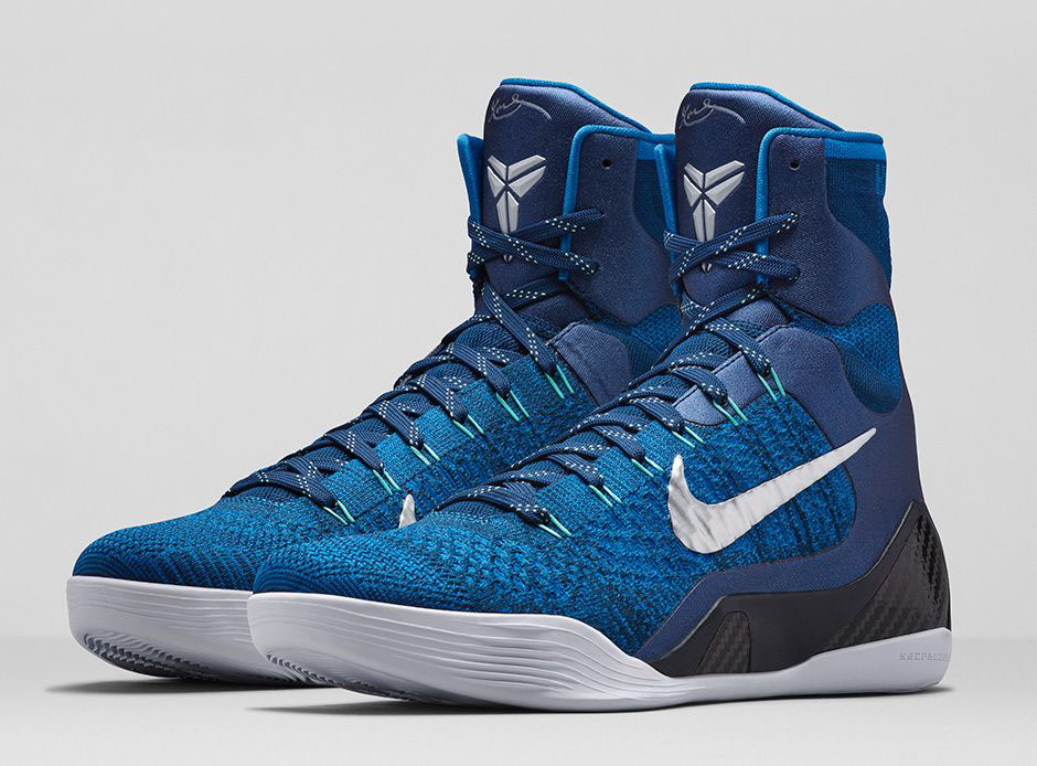 super popular 77158 5c934 Nike Kobe 9 Elite  Brave Blue  Pays Tribute to Jerry Buss