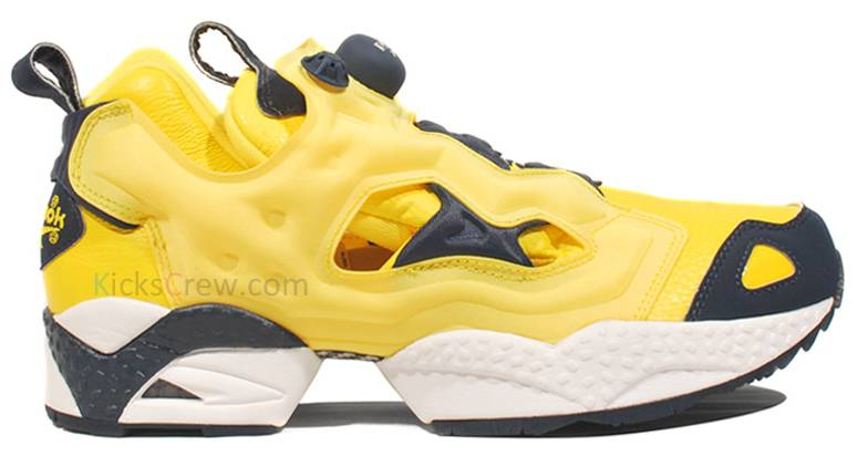 Reebok Insta Pump Fury Bright Yellow Athletic Navy White Black V58716