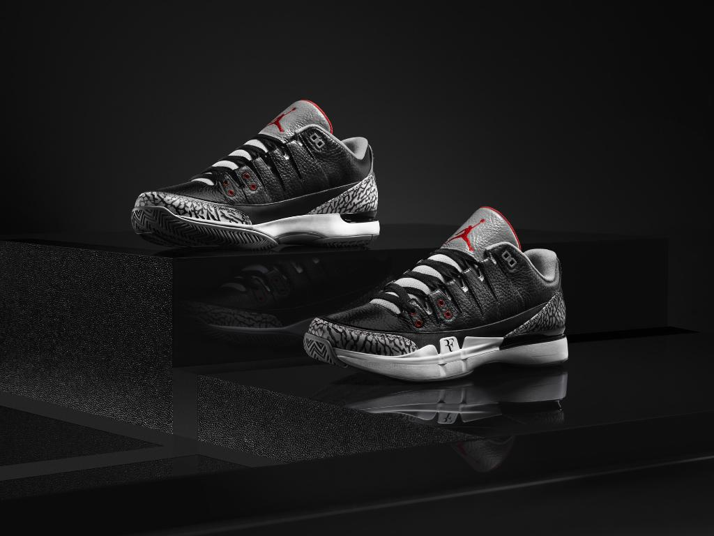 Nike Zoom Vapor Air Jordan 3 Black Cement (3)