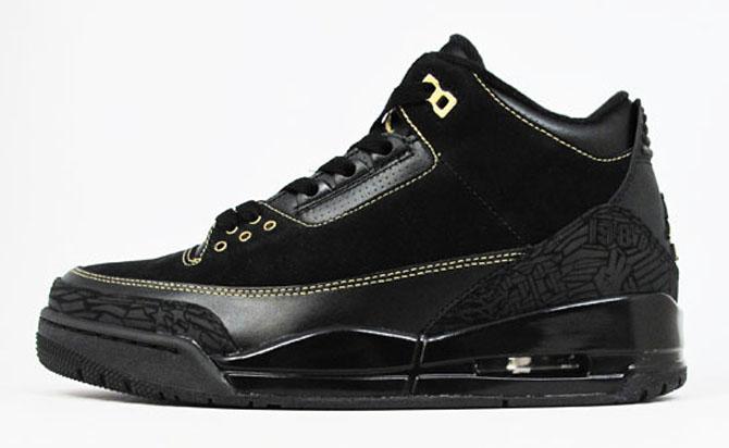 "Shoe  Air Jordan 3 Retro ""BHM"" Year  2011. Original Price   175. Current  Average Resale Price   265. A black and gold Air Jordan 3 sounds like an  easy win d81b19721"