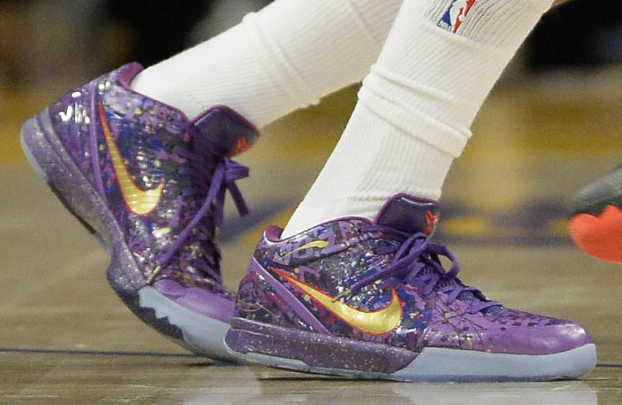 various colors f5334 c7a24 ... Nick Young wearing Nike Zoom Kobe IV 4 Prelude (3) ...