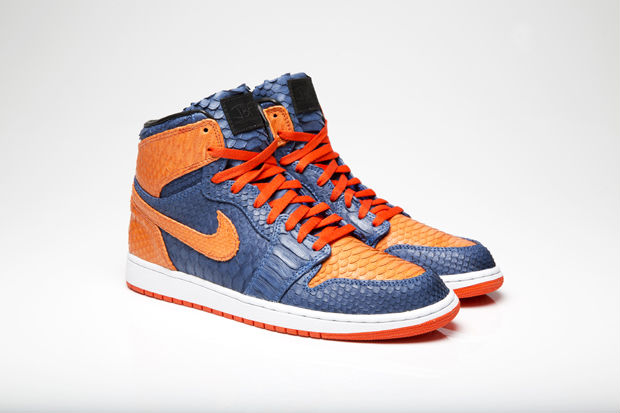 Air Jordan I 1 Knicks Python for DJ Clark Kent by JBF Customs (2)