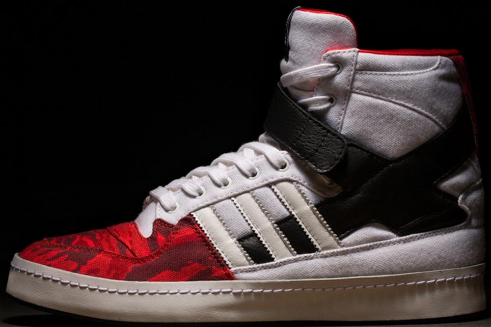 adidas Consortium Forum Hi White/Black-Red