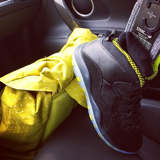 Trinidad James Picks Up Air Jordan X 10 Venom Green