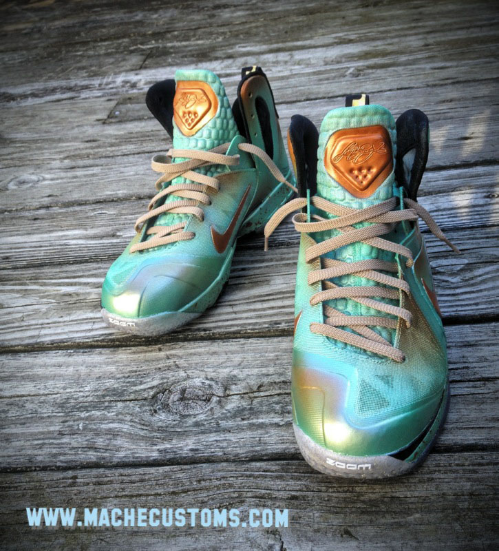 Nike LeBron 9 P.S. Elite Statue of Liberty by Mache Custom Kicks (2)