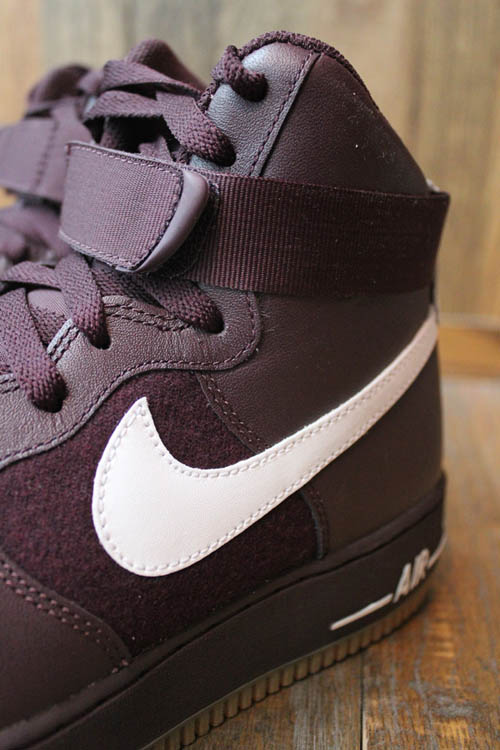 Nike Air Force 1 Hi Deep Burgundy White Gum Medium Brown 315121-600